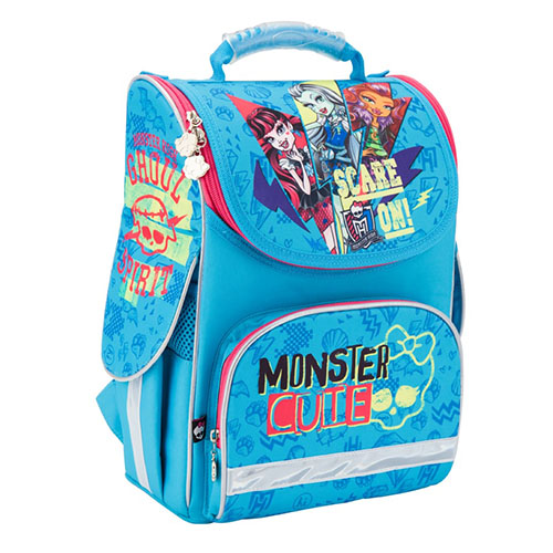 Ранец для девочки Kite Monster High голубой