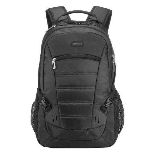Деловой мужской рюкзак Sumdex PON-418BK с отделением для ноутбука черный