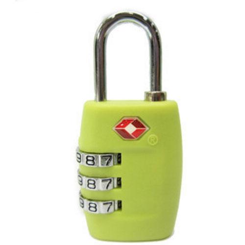 Кодовый замок для багажа TSA салатовый