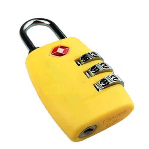 Навесной кодовый замок для чемодана TSA желтый