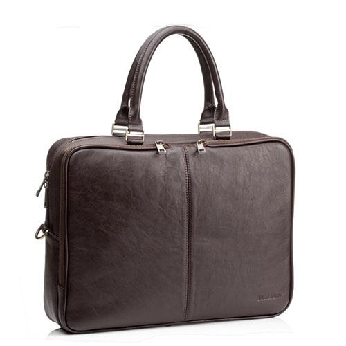 Коричневая мужская сумка Blamont натуральная телячья кожа
