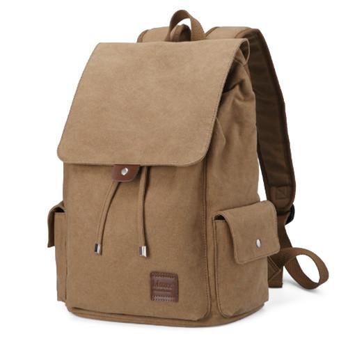 Ретро рюкзак Muzze цвета хаки 30 литров
