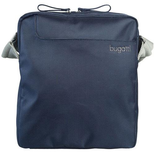 Сумка текстильная на плече Bugatti синяя
