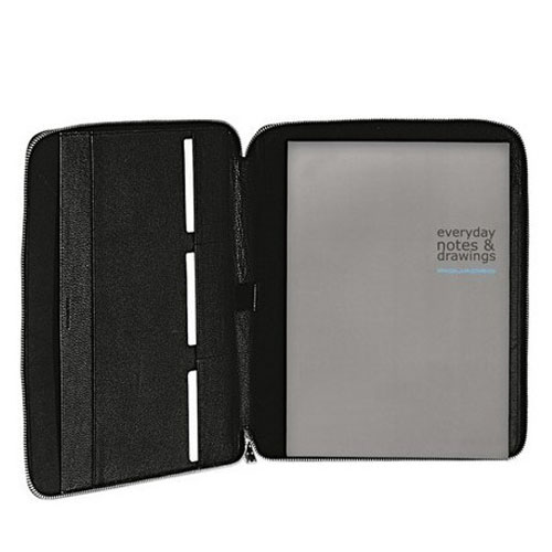 Блокнот Piquadro MODUS/Black A4 в коже на молнии 27х32х2 см