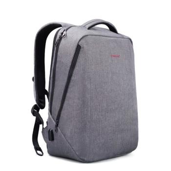 Городской рюкзак светло-серого цвета с USB class=