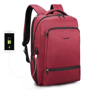 Городской рюкзак красного цвета class=