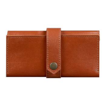 Кожаное портмоне ручной работы коричневый class=