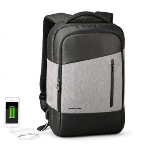 Городской рюкзак с возможностью открывания на 180 градусов черный