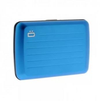 Визитница-портмоне с RFID защитой Stockholm V2 голубого цвета class=