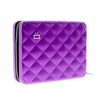 Бумажник на молнии с RFID защитой Quilted Passport пурпурный class=
