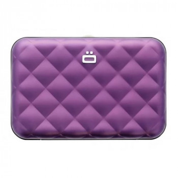 Визитница на молнии с RFID защитой Quilted Passport пурпурный class=