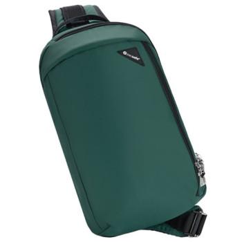 Однолямочная сумка через плечо с ситемой антивор Vibe 325 зеленый class=