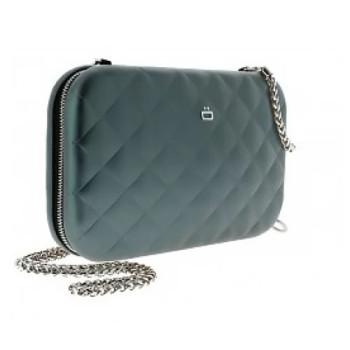 Клатч на молнии  с RFID защитой Quilted ledy bag платиновый class=
