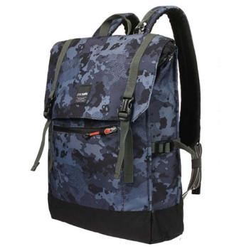 Рюкзак с защитой от кражи Slingsafe LX450 синий камуфляж class=