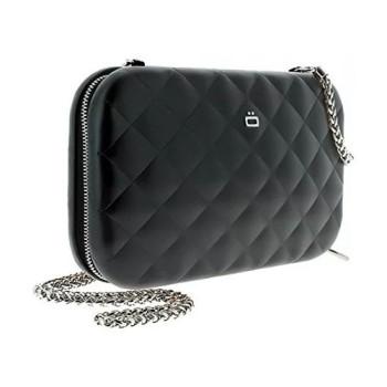 Клатч на молнии  с RFID защитой Quilted ledy bag черный class=