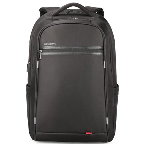 Классический городской рюкзак черного цвета