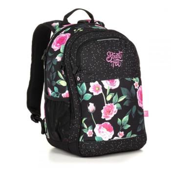 Двухкамерный молодежный женский рюкзак для старшеклассников черный с м class=
