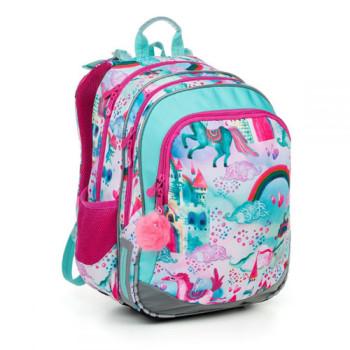 Двухкамерный школьный рюкзак для девочек с единорогов class=