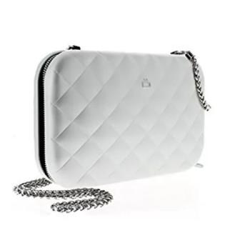 Клатч на молнии  с RFID защитой Quilted ledy bag серебристый class=