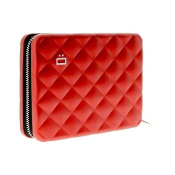 Бумажник на молнии с RFID защитой Quilted Passport красный class=