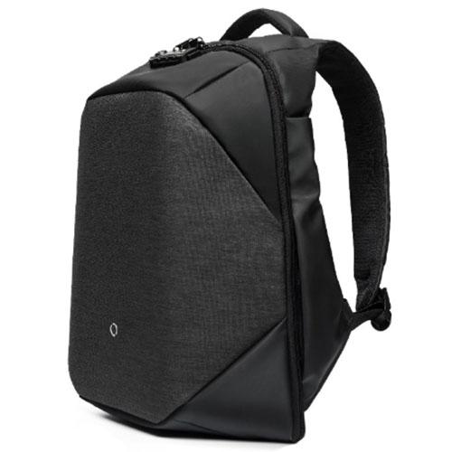 Стильный городской рюкзак с системой антивор черный