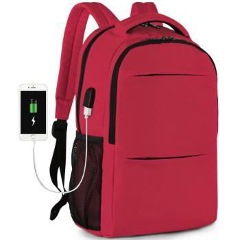 Городской рюкзак красный class=