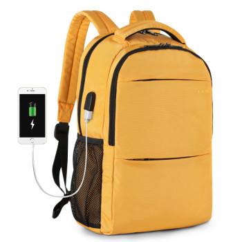 Городской рюкзак желтый class=