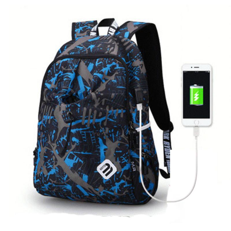 Молодежный рюкзак DynamicPlanet 23 литра синий