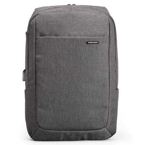 Городской рюкзак Anti Theft из водоотталкивающего материала серый