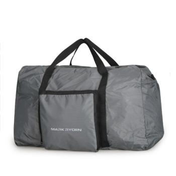 Складная дорожная сумка из непромокаемого полиэстера серая class=