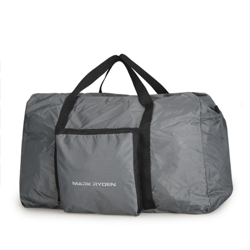 Складная дорожная сумка из непромокаемого полиэстера серая
