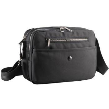 Легкая городская сумка черного цвета с отделением для планшета class=
