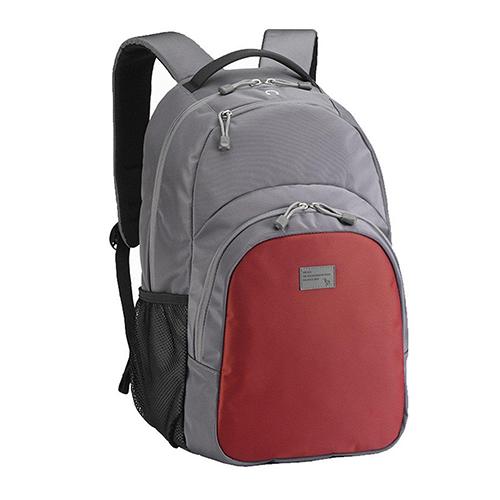 """Стильный рюкзак Sumdex PON-336PR для ноутбука до 15,6"""" серый с красным"""