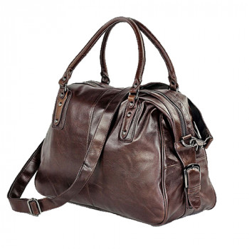 Мужская кожаная сумка Jasper & Maine для путешествий и работы class=