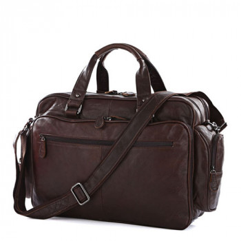 Кожаная дорожная сумка Jasper & Maine с отделением для ноутбука class=