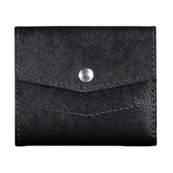 Кожаный кошелек для денег ручной работы черный class=