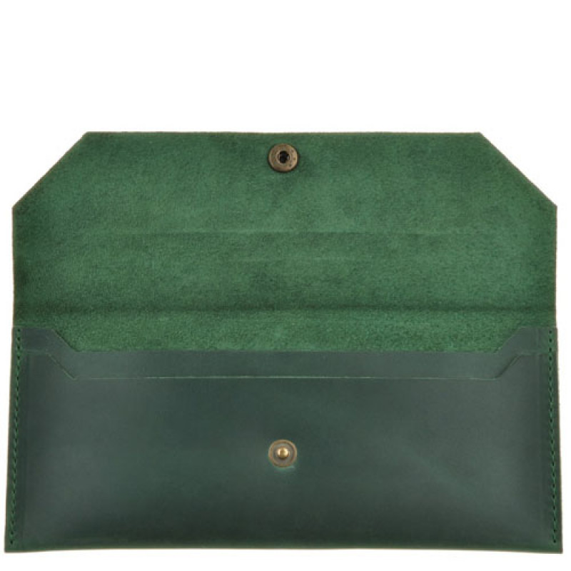 91f6357aa612 Купить изумрудный клатч-конверт ручной работы БланкНот BN-KLATCH-1 ...