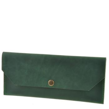 Кожаный клатч-конверт ручной работы Blank Note Изумруд class=