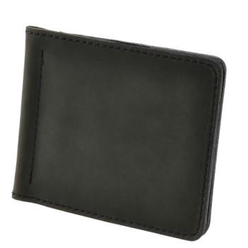 Черное портмоне с зажимом для денег Blank Note Графит class=