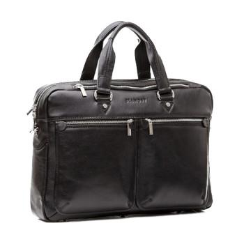Мужская кожаная сумка с длинными ручками class=