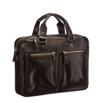 Мужская сумка с длинными ручками Blamont коричневая кожа class=