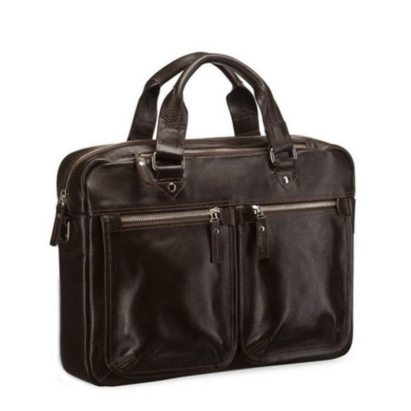 b64e51bd464c Купить мужскую сумку с длинными ручками Blamont коричневая кожа в ...