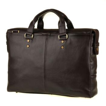Стильная мужская сумка темно коричневая class=