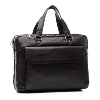 Мужская деловая сумка с большим накладным карманом class=