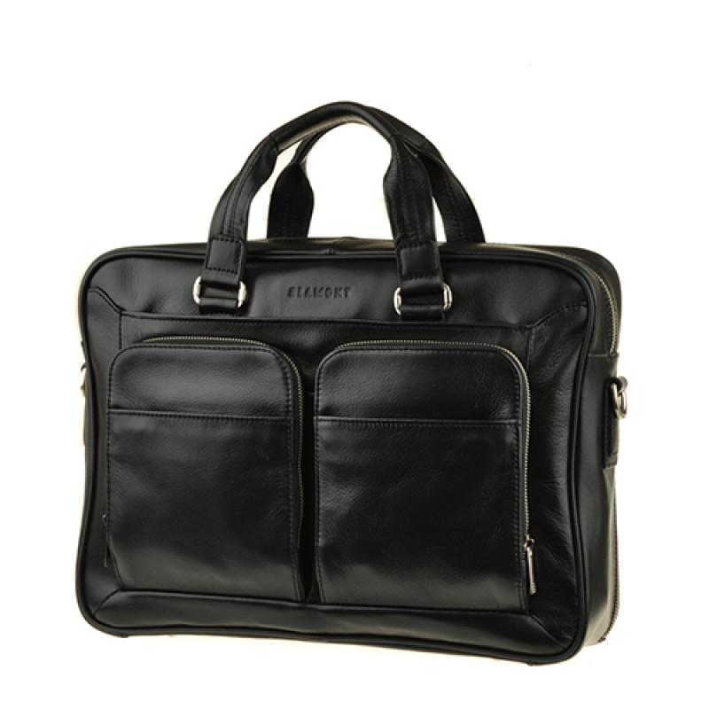 Современная деловая сумка Blamont черная