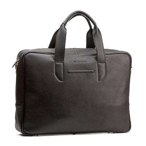 Современная деловая сумка для мужчин Blamont черная кожа