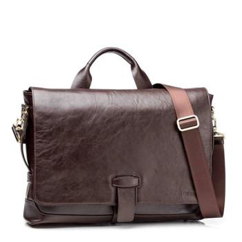 Деловая мужская сумка Blamont коричневая кожа class=