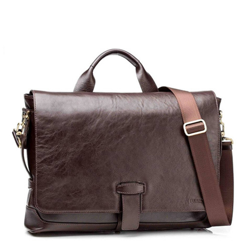 Деловая мужская сумка Blamont коричневая кожа