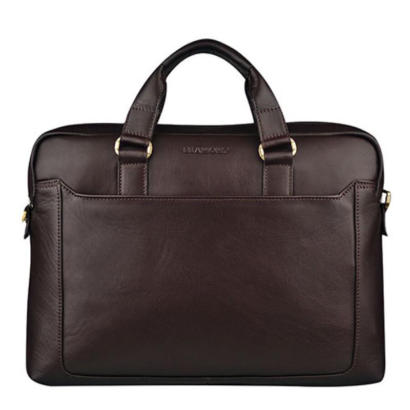 Удобная сумка из натуральной кожи Blamont коричневая
