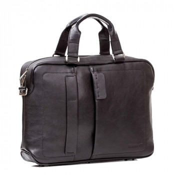 Мужская сумка мягкой формы Blamont черная кожа class=